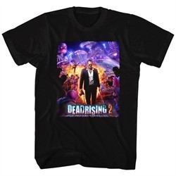 Dead Rising 2 Shirt Purple Action Black T-Shirt