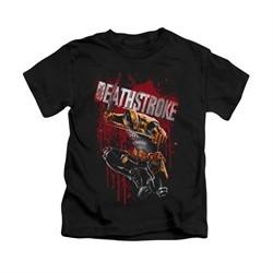 Deathstroke Shirt Blood Splattered Kids Black Youth Tee T-Shirt
