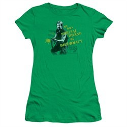 Delta Force 2 Juniors Shirt Special Diplomacy Kelly Green T-Shirt
