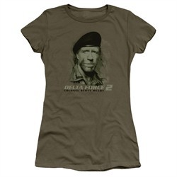 Delta Force 2 Juniors Shirt You Can't See Me Military Green T-Shirt