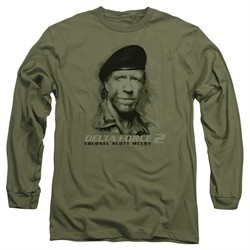Delta Force 2 Long Sleeve Shirt You Can't See Me Military Green Tee T-Shirt