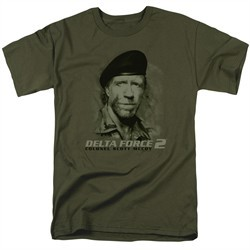 Delta Force 2 Shirt You Can't See Me Military Green T-Shirt