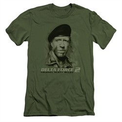 Delta Force 2 Slim Fit Shirt You Can't See Me Military Green T-Shirt
