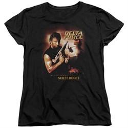 Delta Force 2 Womens Shirt Poster Black T-Shirt