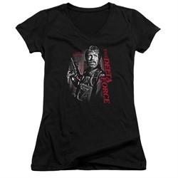 Delta Force Juniors V Neck Shirt Black Ops Black T-Shirt