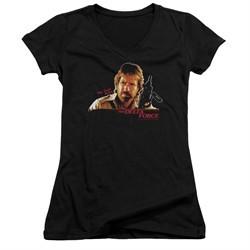 Delta Force Juniors V Neck Shirt Maj Scott Mccoy Black T-Shirt