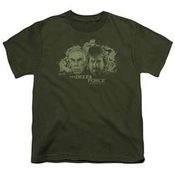 Delta Force Kids Shirt Explosion Military Green T-Shirt
