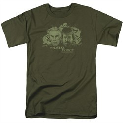 Delta Force Shirt Explosion Military Green T-Shirt