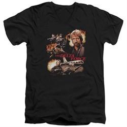 Delta Force Slim Fit V-Neck Shirt Action Pack Black T-Shirt