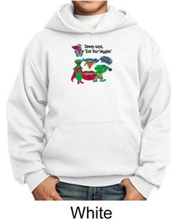 Vegan Kids Hoodie Sweatshirt ? Eat Your Veggies Youth Hoody