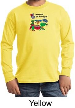 Vegan Kids Long Sleeve Shirt ? Eat Your Veggies Youth Shirt