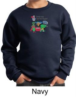 Vegan Kids Sweatshirt ? Eat Your Veggies Youth Sweat Shirt