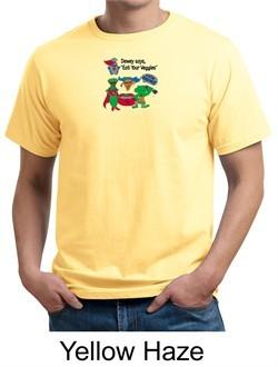 Vegan Organic Shirt ? Eat Your Veggies Adult Tee Shirt