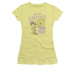 Dexter's Laboratory Shirt Juniors Dark Forces Banana Tee T-Shirt