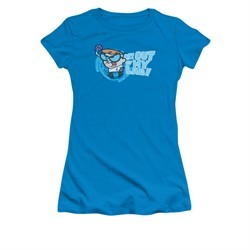 Dexter's Laboratory Shirt Juniors Get Out Turquoise Tee T-Shirt