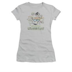 Dexter's Laboratory Shirt Juniors Vintage Cast Silver Tee T-Shirt