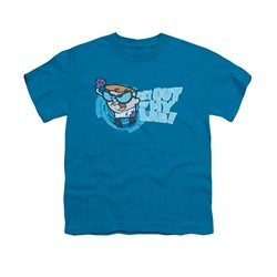Dexter's Laboratory Shirt Kids Get Out Turquoise Youth Tee T-Shirt
