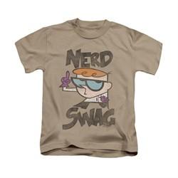 Dexter's Laboratory Shirt Kids Nerd Swag Sand Youth Tee T-Shirt