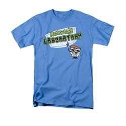 Dexter's Laboratory Shirt Logo Adult Carolina Blue Tee T-Shirt