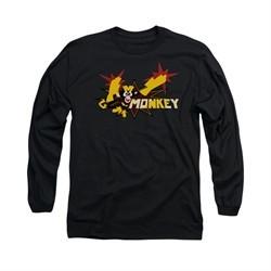 Dexter's Laboratory Shirt Monkey Long Sleeve Black Tee T-Shirt