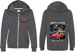 Dodge Chrysler American Made (Front & Back) Ladies Full Zip Hoodie
