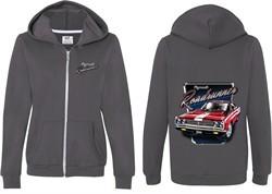 Dodge Plymouth Roadrunner (Front & Back) Ladies Full Zip Hoodie