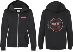 Dodge Vintage Dodge Sign (Front & Back) Ladies Full Zip Hoodie
