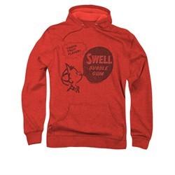 Double Bubble Hoodie Swell Gum Red Sweatshirt Hoody
