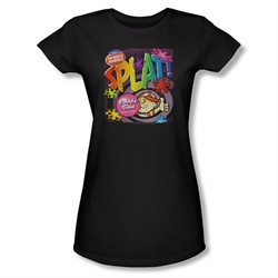 Double Bubble Shirt Juniors Splat Gum Black T-Shirt