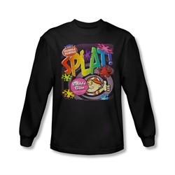 Double Bubble Shirt Splat Gum Long Sleeve Black Tee T-Shirt