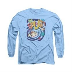 Double Bubble Shirt Splat Jawbreaker Long Sleeve Carolina Blue Tee T-Shirt