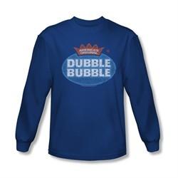 Double Bubble Shirt Vintage Logo Long Sleeve Royal Blue Tee T-Shirt