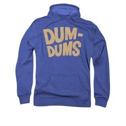 Dum Dums Hoodie Distressed Logo Royal Blue Sweatshirt Hoody