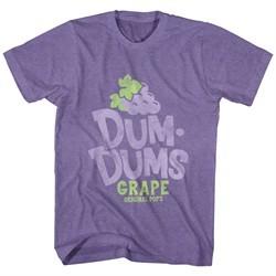 Dum Dums Shirt Grape Heather Purple T-Shirt