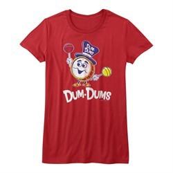 Dum Dums Shirt Juniors Drum Man Red T-Shirt