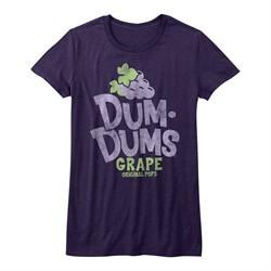 Dum Dums Shirt Juniors Grape Purple T-Shirt