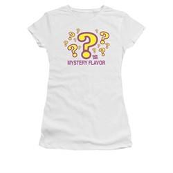 Dum Dums Shirt Juniors Mystery Flavor White T-Shirt