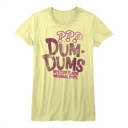 Dum Dums Shirt Juniors Mystery Flavor Yellow T-Shirt