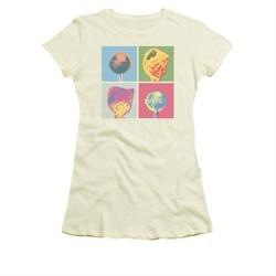 Dum Dums Shirt Juniors Pop Art Cream T-Shirt