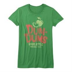 Dum Dums Shirt Juniors Sour Apple Heather Green T-Shirt