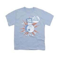 Dum Dums Shirt Kids Drum Man Light Blue T-Shirt