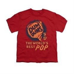 Dum Dums Shirt Kids The Best Pop For 5 Cents Red T-Shirt