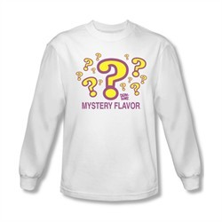 Dum Dums Shirt Mystery Flavor Long Sleeve White Tee T-Shirt
