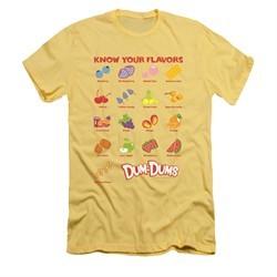Dum Dums Shirt Slim Fit Know Your Flavor Banana T-Shirt