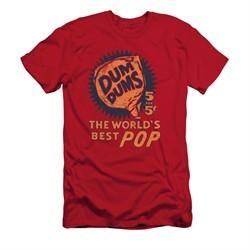 Dum Dums Shirt Slim Fit The Best Pop For 5 Cents Red T-Shirt