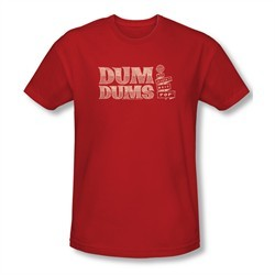 Dum Dums Shirt Slim Fit Worlds Best Red T-Shirt