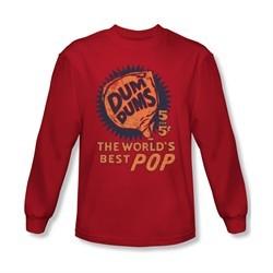 Dum Dums Shirt The Best Pop For 5 Cents Long Sleeve Red Tee T-Shirt