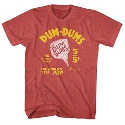 Dum Dums Shirt The Worlds Best Pop Heather Red T-Shirt