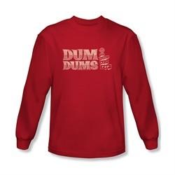 Dum Dums Shirt Worlds Best Long Sleeve Red Tee T-Shirt