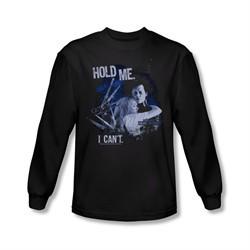 Edward Scissorhands Shirt Hold Me Long Sleeve Black Tee T-Shirt